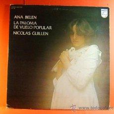 Discos de vinilo: LA PALOMA DE VUELO POPULAR -POETA NICOLAS GUILLEN -ANA BELEN -PHILIPS -FONOGRAM- 1976 - DOBLE LP .... Lote 38782607