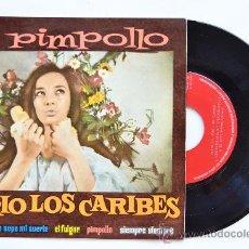 Discos de vinilo: TRIO LOS CARIBES-PIMPOLLO…-¡¡NUEVO!!-EP-1960-ZAFIRO-SPÑ. Lote 38785576