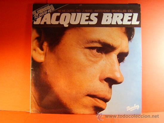 JACQUES BREL - NE ME QUITTE PAS, J'AMAIS, AMSTERDAM, ETC - BARCLAY MOVIEPLAY - 1981 - DOBLE LP ... (Música - Discos de Vinilo - EPs - Cantautores Internacionales)