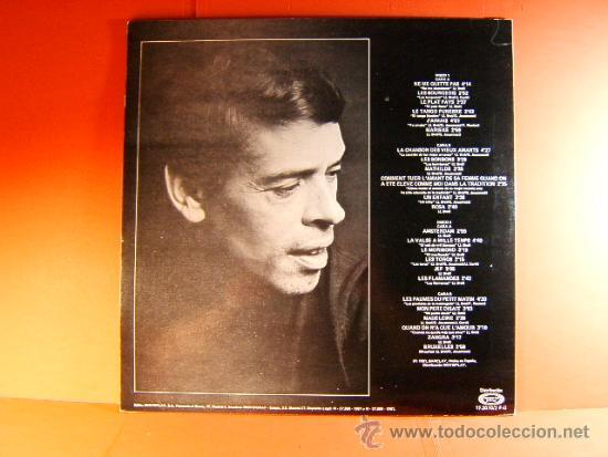 Discos de vinilo: JACQUES BREL - NE ME QUITTE PAS, JAMAIS, AMSTERDAM, ETC - BARCLAY MOVIEPLAY - 1981 - DOBLE LP ... - Foto 2 - 38792496