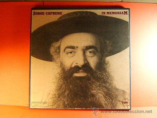 IN MEMORIAM-JORGE CAFRUNE-CBS-3.000 EJEMPLARES-FOTOS LIBRETO 20 PAG-1978-CAJA 3 LPS. (Música - Discos - LP Vinilo - Cantautores Internacionales)
