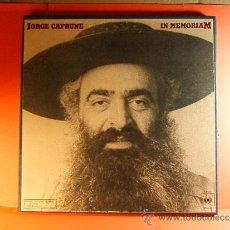 Discos de vinilo: IN MEMORIANM - JORGE CAFRUNE - CBS - 3.000 EJEMPLARES -FOTOS,LIBRETO 20 PAG- 1978 -CAJA DOBLE LP... . Lote 38792687