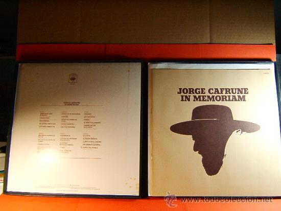 Discos de vinilo: IN MEMORIAM-JORGE CAFRUNE-CBS-3.000 EJEMPLARES-FOTOS LIBRETO 20 PAG-1978-CAJA 3 LPS. - Foto 2 - 38792687