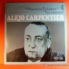 Discos de vinilo: NARRACIONES - RECITA ALEJO CARPENTIER - CUBA- CASA DE LAS AMERICAS - MOVIE PLAY GONG - 1977 - LP .... Lote 38793445