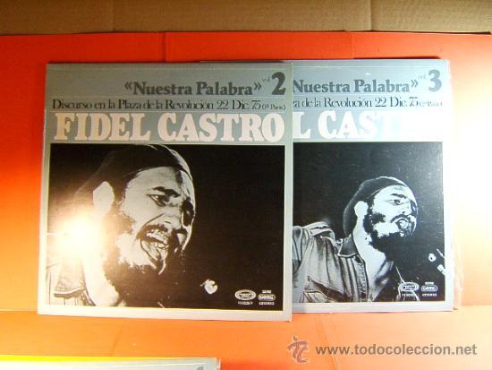DISCURSO PLAZA DE LA REVOLUCION LA HABANA CUBA-FIDEL CASTRO -MOVIE PLAY GONG- 1977 - 2 DISCOS LP ... (Música - Discos - LP Vinilo - Cantautores Internacionales)