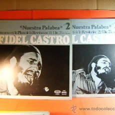 Discos de vinilo: DISCURSO PLAZA DE LA REVOLUCION LA HABANA CUBA-FIDEL CASTRO -MOVIE PLAY GONG- 1977 - 2 DISCOS LP .... Lote 38793729