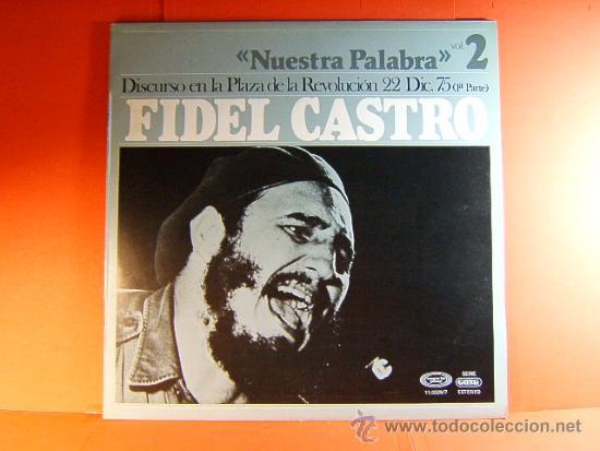 Discos de vinilo: DISCURSO PLAZA DE LA REVOLUCION LA HABANA CUBA-FIDEL CASTRO -MOVIE PLAY GONG- 1977 - 2 DISCOS LP ... - Foto 2 - 38793729