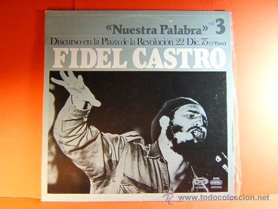 Discos de vinilo: DISCURSO PLAZA DE LA REVOLUCION LA HABANA CUBA-FIDEL CASTRO -MOVIE PLAY GONG- 1977 - 2 DISCOS LP ... - Foto 4 - 38793729