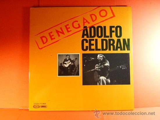 DENEGADO - ADOLFO CELDRAN - MOVIE PLAY GONG - DEL VETO AL VOTO - FOTOS-ANTONIO GOMEZ - 1977 - LP ... (Música - Discos - LP Vinilo - Cantautores Españoles)