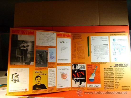 Discos de vinilo: DENEGADO - ADOLFO CELDRAN - MOVIE PLAY GONG - DEL VETO AL VOTO - FOTOS-ANTONIO GOMEZ - 1977 - LP ... - Foto 2 - 38794032