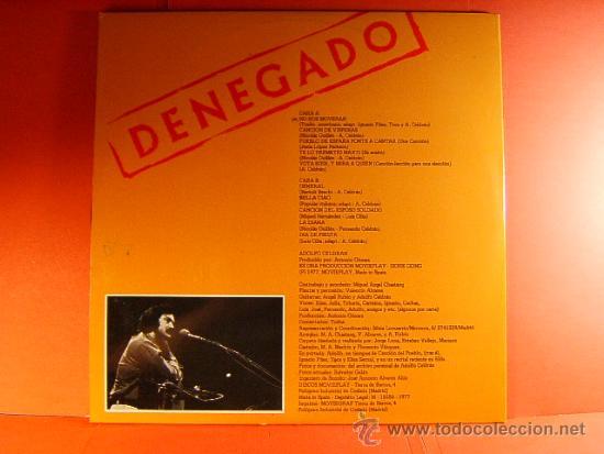 Discos de vinilo: DENEGADO - ADOLFO CELDRAN - MOVIE PLAY GONG - DEL VETO AL VOTO - FOTOS-ANTONIO GOMEZ - 1977 - LP ... - Foto 3 - 38794032