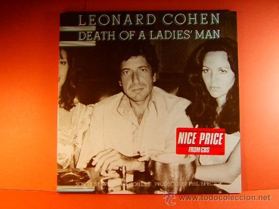 DEATH OF A LADIES' MAN - LEONARD COHEN - CBS - ORIGINAL HOLANDES -WHITNEY LOS ANGELES- 1977 - LP ... (Música - Discos - LP Vinilo - Cantautores Extranjeros)