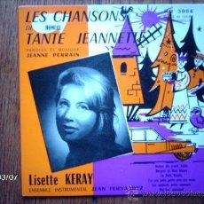 Discos de vinilo: LISETTE KERAY - LES CHANSONS DE TANTE JEANNETTE - AUTOUR DU GRAND SAPIN + 5. Lote 38807879