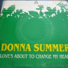 Discos de vinilo: DONNA SUMMER LOVE´S ABOUT TO CHANGE MY HEART PROMO SINGLE. Lote 38809161