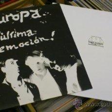 Discos de vinilo: LOTE DE EUROPA LA ULTIMA EMOCION LP Y TEST PRESSING PARA LA BANDA. Lote 38812881