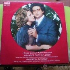 Discos de vinilo: GRANDES DUOS DE AMOR. PLACIDO DOMINGO. KATIA RICCIARELLI PEPETO. Lote 38837536