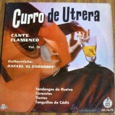 Discos de vinilo: SINGLE VINILO CURRO DE UTRERA .HISPAVOX. Lote 38827063