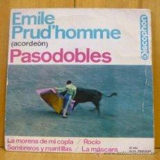 Discos de vinilo: EMILE PRUD HOMME (ACORDEÓN) PASODOBLES - LA MORENA DE MI COPLA +3 - EP DISCOPHON 1964 - SC2. Lote 38829103
