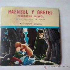 Discos de vinilo: HAENSEL Y GRETEL PUBLICACION INFANTIL SONORA CON 15 DIAPOSITIVAS -1967. Lote 38832673