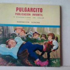 Discos de vinilo: PULGARCITO - PUBLICACION INFANTIL SONORA CON 15 DIAPOSITIVAS -1969. Lote 38832772