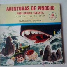 Discos de vinilo: AVENTURAS DE PINOCHO 2 PARTE PUBLICACION INFANTIL SONORA CON 15 DIAPOSITIVAS -1968. Lote 38832874