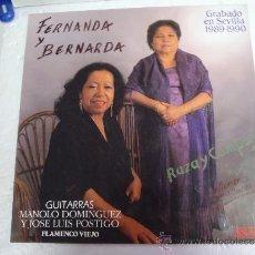 Discos de vinilo: FERNANDA Y BERNARDA RAZA Y COMPAS. Lote 38833197
