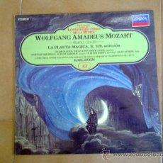 Discos de vinilo: LP, WOLFGANG AMADEUS MOZART, LA FLAUTA MAGICA 1983 . Lote 38900969