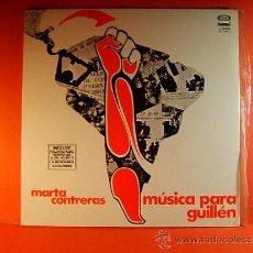 Disques de vinyle: MUSICA PARA GUILLEN - MARTA CONTRERAS - CHILE - LETRAS CANCIONES - MOVIE PLAY GONG - 1977 - LP ... . Lote 38844708