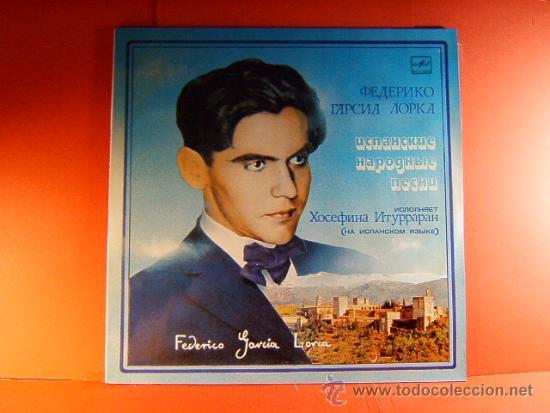 FEDERICO GARCIA LORCA - GRANADA 1898/1936 -MADE IN USSR UNION SOVIETICA URSS RUSIA-1960/1987- LP ... (Música - Discos - LP Vinilo - Cantautores Internacionales)