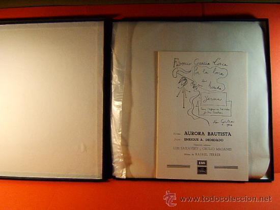 Discos de vinilo: POR LA BOCA DE SU HERIDA-YERMA-FEDERICO GARCIA LORCA-JEAN COCTEAU-EMI-1964-RARISIMO-COMPLETO 2 LP. - Foto 2 - 38853169