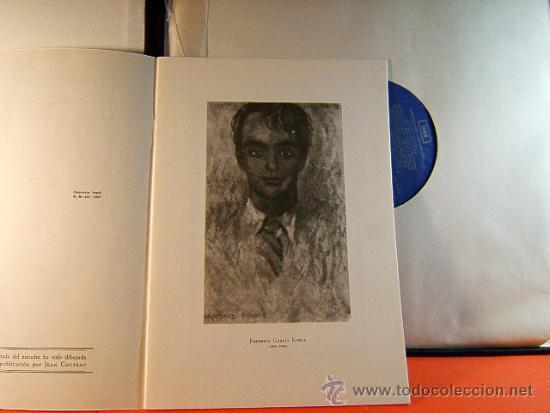 Discos de vinilo: POR LA BOCA DE SU HERIDA-YERMA-FEDERICO GARCIA LORCA-JEAN COCTEAU-EMI-1964-RARISIMO-COMPLETO 2 LP. - Foto 3 - 38853169