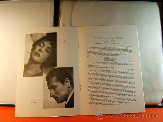 Discos de vinilo: POR LA BOCA DE SU HERIDA-YERMA-FEDERICO GARCIA LORCA-JEAN COCTEAU-EMI-1964-RARISIMO-COMPLETO 2 LP. - Foto 5 - 38853169