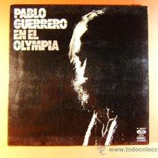 Discos de vinilo: EN EL OLYMPIA 1975 - PABLO GUERRERO - MOVIE PLAY GONG - FOTOS Y LETRAS CANCIONES - 1975 - LP ... . Lote 38856716