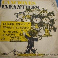 Discos de vinilo: CANCIONES INFANTILES EL BURRO PERICO...PROMO. Lote 38856870