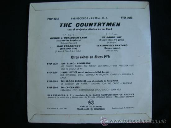 Discos de vinilo: EP THE COUNTRYMEN // RUMBO A CUALQUIER LADO + 3 - Foto 2 - 38866285