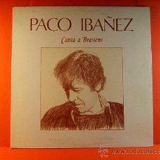 Discos de vinilo: PACO IBAÑEZ CANTA A BRASSENS - ARIOLA EURODISC - DIBUJO, FOTOS Y LETRAS CANCIONES - 1979 - LP ... . Lote 38871228