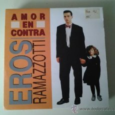 Discos de vinilo: EROS RAMAZZOTTI - AMOR EN CONTRA (PEDIDO MINIMO 6 EUROS). Lote 38872034