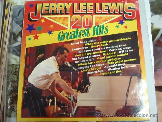 Discos de vinilo: JERRY LEE LEWIS 20 GREATEST HITS - Foto 1 - 38876355