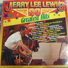 Discos de vinilo: JERRY LEE LEWIS 20 GREATEST HITS. Lote 38876355