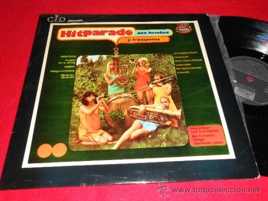 LOS CAZADORES DEL KURPFALZ HITPARADE CON BOMBOS Y TROMPETAS LP 1969 DIM BEATLES SPAIN (Música - Discos - LP Vinilo - Orquestas)