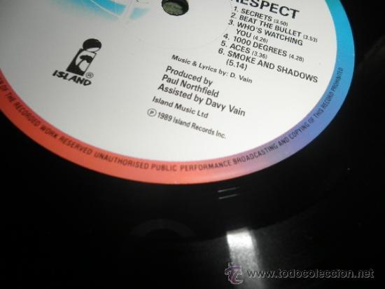 Vain - no respect lp - original ingles - island - Sold