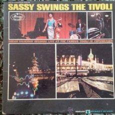 Discos de vinilo: SARAH VAUGHAN / SASSY SWINGS THE TIVOLI 1962 !! QUICY JONES !! GREAT JAZZ ALBUM, ORIG. EDIT. USA, EX. Lote 86063356