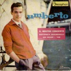 Discos de vinilo: UMBERTO MARCATO - NUESTRO CONCIERTO - DOS CRUCES - TANI - EP SPAIN 1961 VG+ / VG++. Lote 38889316