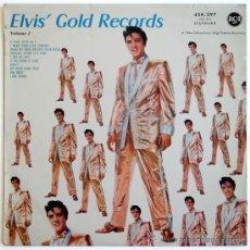 Discos de vinilo: ELVIS PRESLEY - ELVIS' GOLD RECORDS VOL.2 - LP FRANCE 1959 (1A ED.). Lote 214758780
