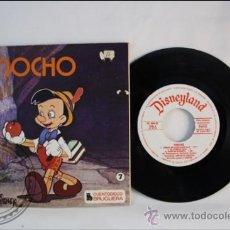 Discos de vinilo: SINGLE - WALT DISNEY - PINOCHO - EDITADO BRUGERA - 1967 - ESPAÑA - CUENTO. Lote 38902774