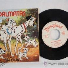 Discos de vinilo: SINGLE - WALT DISNEY - 101 DALMATAS - EDITADO BRUGERA - 1967 - ESPAÑA - CUENTO. Lote 38902789
