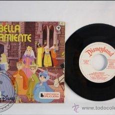 Discos de vinilo: SINGLE - WALT DISNEY - LA BELLA DURMIENTE - EDITADO BRUGERA - 1968 - ESPAÑA - CUENTO. Lote 38902880
