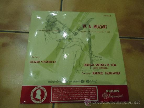DISCO W.A MOZART ORQUESTA SINFONICA DE VIENA CONCIERTO PARA CLARINETE,1 (Música - Discos de Vinilo - EPs - Clásica, Ópera, Zarzuela y Marchas)
