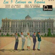 Discos de vinilo: 5 LATINOS, LOS, EP, ERES DIFERENTE + 3, AÑO 1960. Lote 38912994