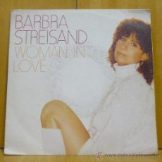 Discos de vinilo: BARBRA STREISAND - WOMAN IN LOVE - SINGLE CBS - CBS 8966 - ESPAÑA 1980. Lote 47370430